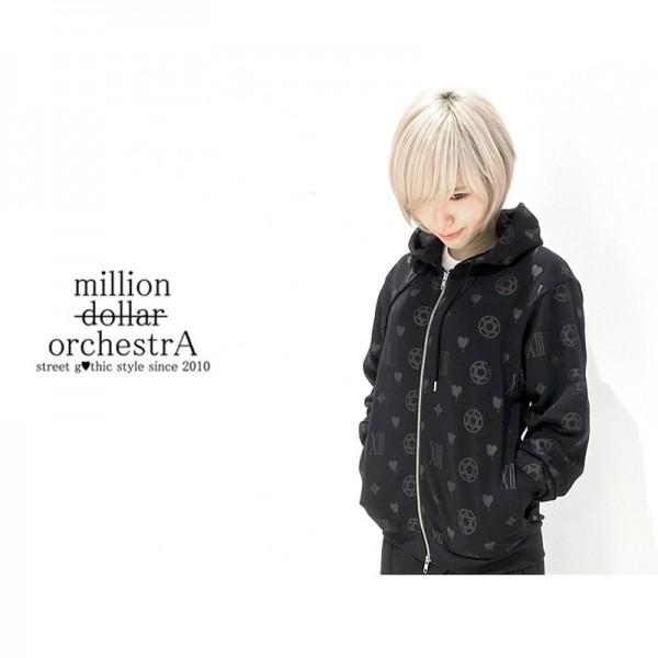 "【PLANNET限定販売】""million dollar orchestra"" – hell monogram parka(BLK/BLK)"