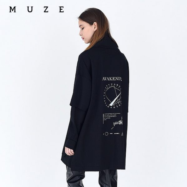 NEW ARRIVAL【MUZE】LAYERED HI NECK TEE