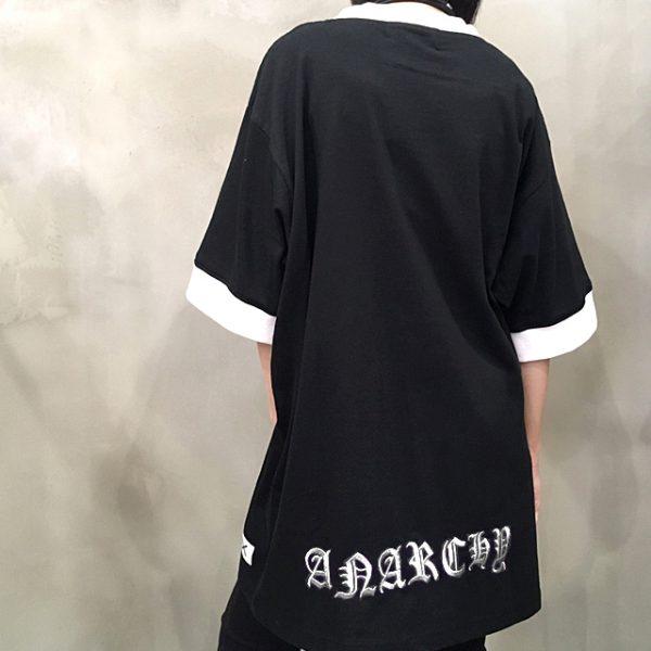 "【H>FRACTAL OSAKA】""SHINICHI SUMINO"" – BACK EMBROIDERY ANARCHY TEE"