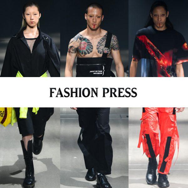 """FASHION PRESS""にPARADOX TOKYO 2018春夏コレクションが掲載されました。"
