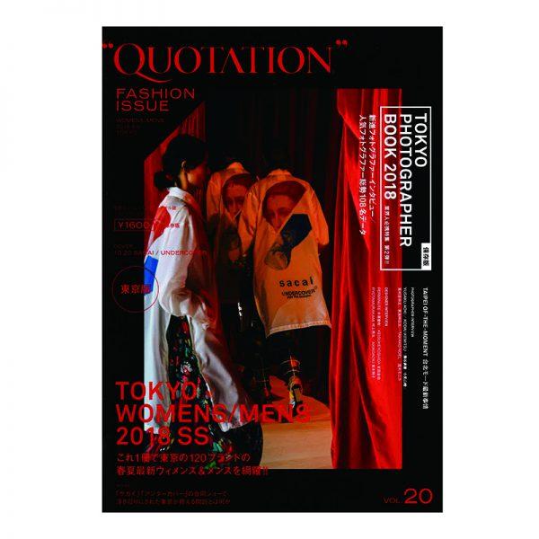 """""""QUOTATION MAGAZINE Vol.20″にPARADOX 2018春夏コレクションが掲載されました。"""